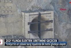 Türkiye'nin en yüksek baraj inşaatında 64 metre gövdeye ulaşıldı