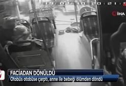 Sultanbeyli'de otobüs kazasında faciadan dönüldü