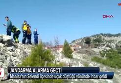 Manisada uçak düştü iddiası Jandarmayı alarma geçirdi