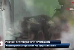 PKK/KCK operasyonları kapsamında 735 şüpheli gözaltına alındı