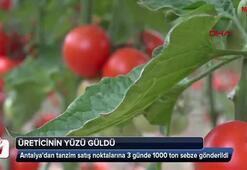 3 günde 1000 ton sebze gönderildi