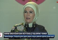 Emine Erdoğandan yabancı misyon şeflerinin eşlerine yemek