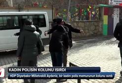 HDPli vekil kadın polis memurunun kolunu ısırdı