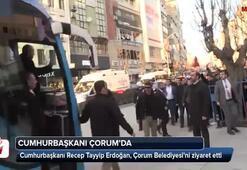 Cumhurbaşkanı Erdoğandan Çorum Belediyesine ziyaret