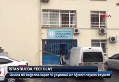 İstanbulda dili boğazına kaçan öğrenci hayatını kaybetti