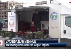 Taksim Meydanında tanzim satışları başladı