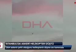 Çekmeköyde askeri helikopterin düşme anı