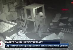 Cep telefonundan bağlandığı güvenlik kamerasından hırsızı yakalattı