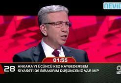 Ankara'yı üçüncü kez kaybedersem, siyaseti de bırakırım düşünceniz var mı