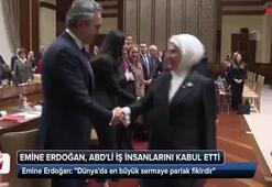 Emine Erdoğan, ABDli iş insanlarından oluşan heyeti kabul etti
