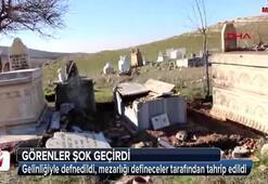 Defineciler mezarlığı tahrip etti