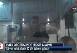 Halk otobüsünde hırsız alarmı