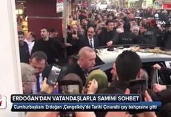 Cumhurbaşkanı Erdoğandan vatandaşlarla samimi sohbet