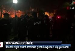 Bursada gerginlik Linçten polis kurtardı