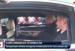 Cumhurbaşkanı Erdoğan, minibüsçülerle sohbet etti