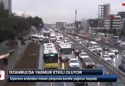 İstanbulda yağmur başladı