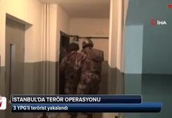 İstanbul'da 3 YPGli terörist yakalandı
