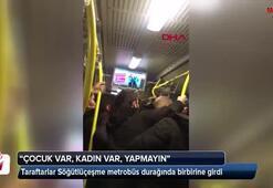 Söğütlüçeşme metrobüs durağında taraftar kavgası