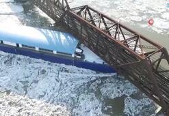ABD'de limandan kurtulan gemi demiryolu köprüsüne çarptı