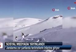 Jandarma zor şartlarda teröristlerin inlerine giriyor