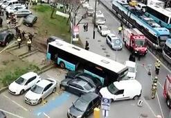 İstanbulda özel halk otobüsü kaza yaptı Çok sayıda yaralı var