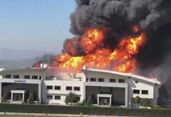 Son dakika... İstanbulda korkutan fabrika yangını Patlamalar yaşanıyor...