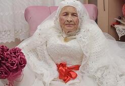 89 yaşında gelin oldu Yıllardır bu hayali kuruyordum