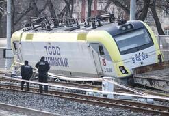 Ankarada tren raydan çıktı