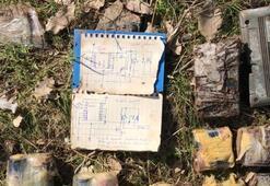 Son dakika: PKKlı teröristlerin el yapımı patlayıcı şeması bulundu