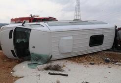Rehabilitasyon merkezi servisi kaza yaptı: 6sı öğrenci, 8 yaralı
