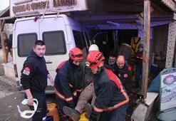 İşçi servisi kaza yaptı Ölü ve yaralılar var