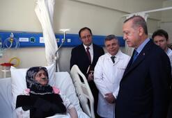 Cumhurbaşkanı Erdoğan yaralıları ziyaret etti
