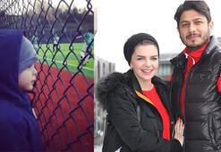Pelin Karahan eşinin de oynadığı takımın şampiyonluk maçını izledi