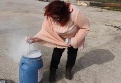 Bordan ilk soğutma özellikli yangın söndürücü toz Türkiye'de üretildi