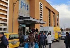 Konyada PTT merkezinde patlama Ekipler sevk edildi...