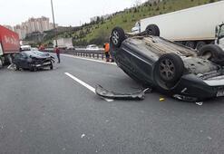 Son dakika: TEMde zincirleme kaza İstanbul yönü ulaşıma kapandı...