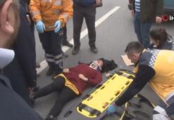 Son dakika: Basın Ekspres Yolu'nda dehşet Seyir halindeki araçtan atladı...