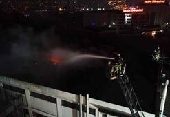 Avcılarda fabrika yangını: Havadan görüntülendi