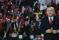Son dakika: Cumhurbaşkanı Erdoğan tek tek sahneye çağırdı İşte o isimler...
