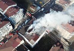 Beylikdüzünde 4 katlı binada yangın paniği