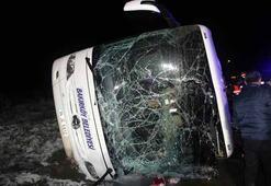 Son dakika   Amasyada belediye otobüsü devrildi Ölü ve yaralılar var...
