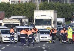 Basın Ekspres yolunda zincirleme kaza