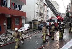 Yangında mahsur kalan engelli kadın ve torununu vatandaşlar kurtardı
