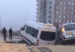Gaziantepte yol çöktü, 13 kişi yaralandı