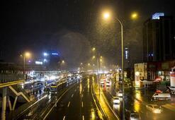 Meteorolojiden uyarı üstüne uyarı gelmişti Kar yağışı başladı...