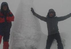 Nemrut Dağındaki devasa heykeller buz kesti