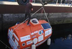Varil şeklindeki kapsül içinde Atlas Okyanusunu geçmeye hazırlanıyor
