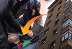 İnanılmaz olay 8inci kattan üzerine düştü