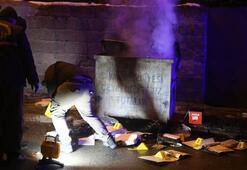 Konteynerin yandığını görenler, polise haber verdi İçinden bakın neler çıktı