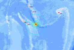 Son dakika: Yeni Kaledonyada 7.5 büyüklüğünde deprem Tsunami uyarısı